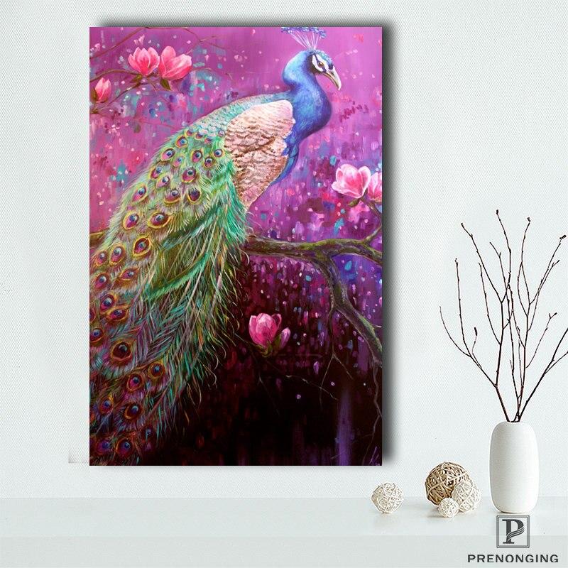 Póster de lienzo personalizado Pavo Real (3) impresión de carteles tela pared arte cuadros para decoración de sala de estar #18-12-05-S-02-93