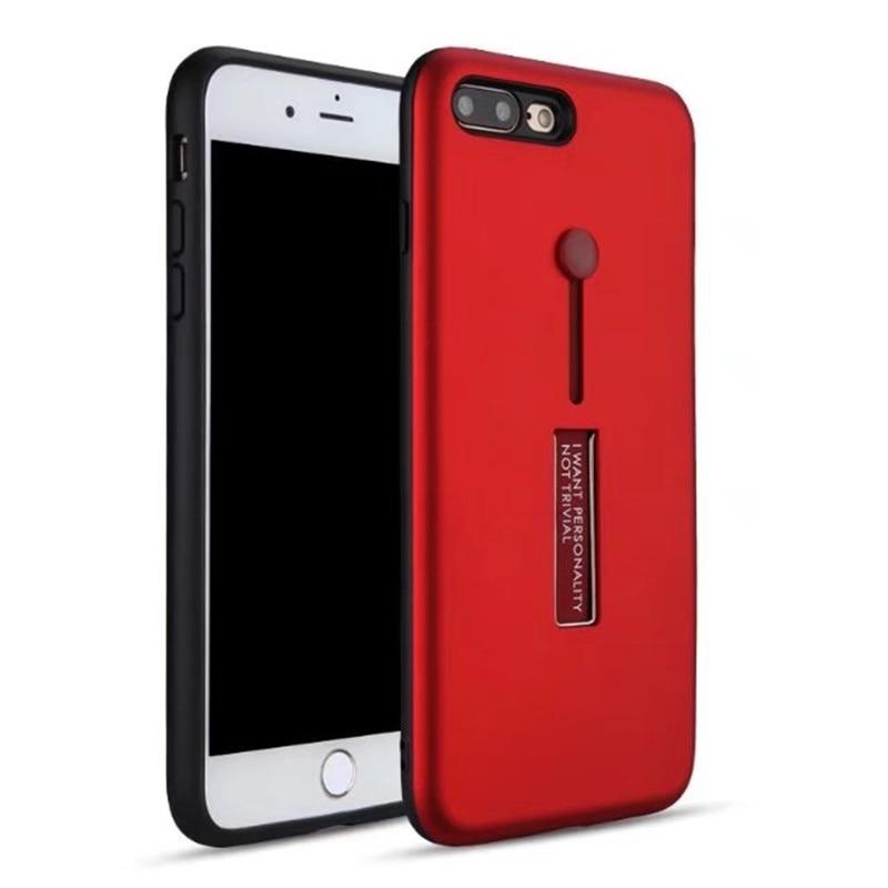 Para Iphone X 7 8 6 6s Plus funda de teléfono a prueba de golpes anillo híbrido armadura cubierta para SE 5 5S suave TPU silicona protección completa Coque Fundas