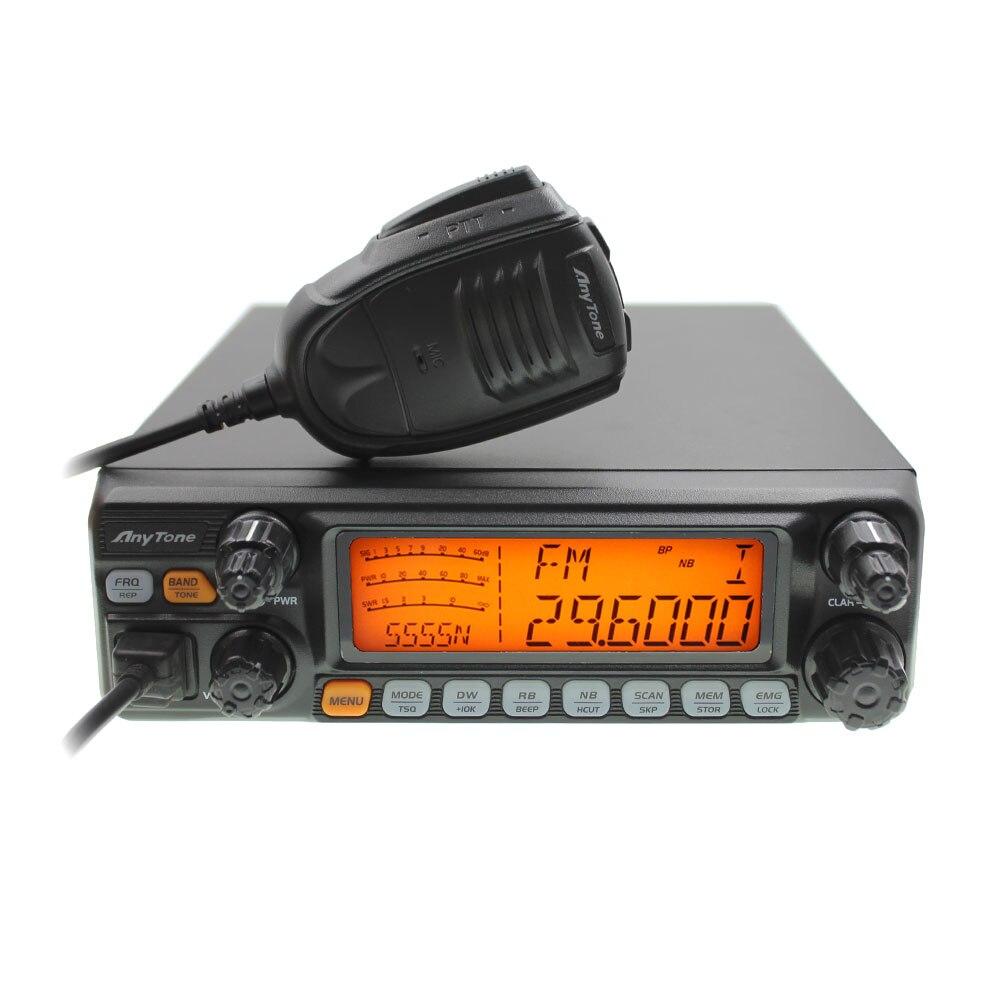 Gran pantalla LCD AT-5555N AM FM USB LSB PW CW 10 Neter 28.000-29.700MHz 40 canales CB AT5555N transceptor de Radio