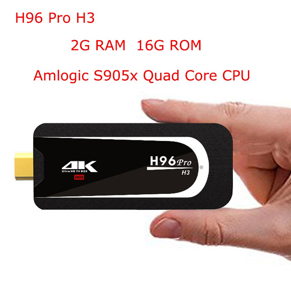 H96 Pro H3 4K TV Stick Android 7,1 Amlogic S905X Quad Core 2G 16G Mini PC 2,4G 5G Wifi Bluetooth 4,0 HD 1080P Miracast dongle TV