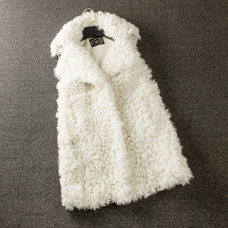 Suit lapel lamb fur vest  100%natural furreal fur gilet real sheep fur vest sheep fur gilet women