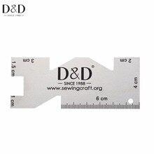 Nouveau 1pc haute qualité règle en métal couture mesure mesure Quilting règles tissu artisanat couture outils de couture
