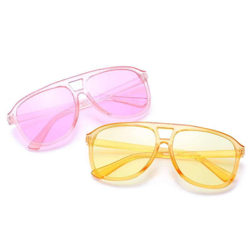 2019 Fashion Candy Colors Sunglasses Women Ocean Lens Sunglasses Men Plastic Pilot Sun Glasses Vinta