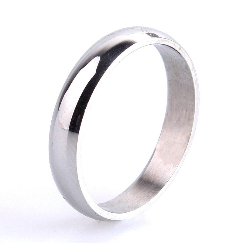 Freies verschiffen 3mm Silber Glatte 316L Edelstahl hochzeit ringe für frauen männer großhandel