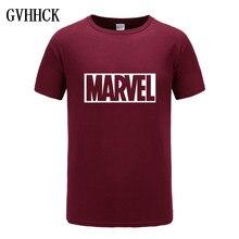 2018 nueva moda Marvel Camiseta de manga corta de los hombres estampado de superhéroe t camisa de cuello de camisas de Marvel tops ropa Tee