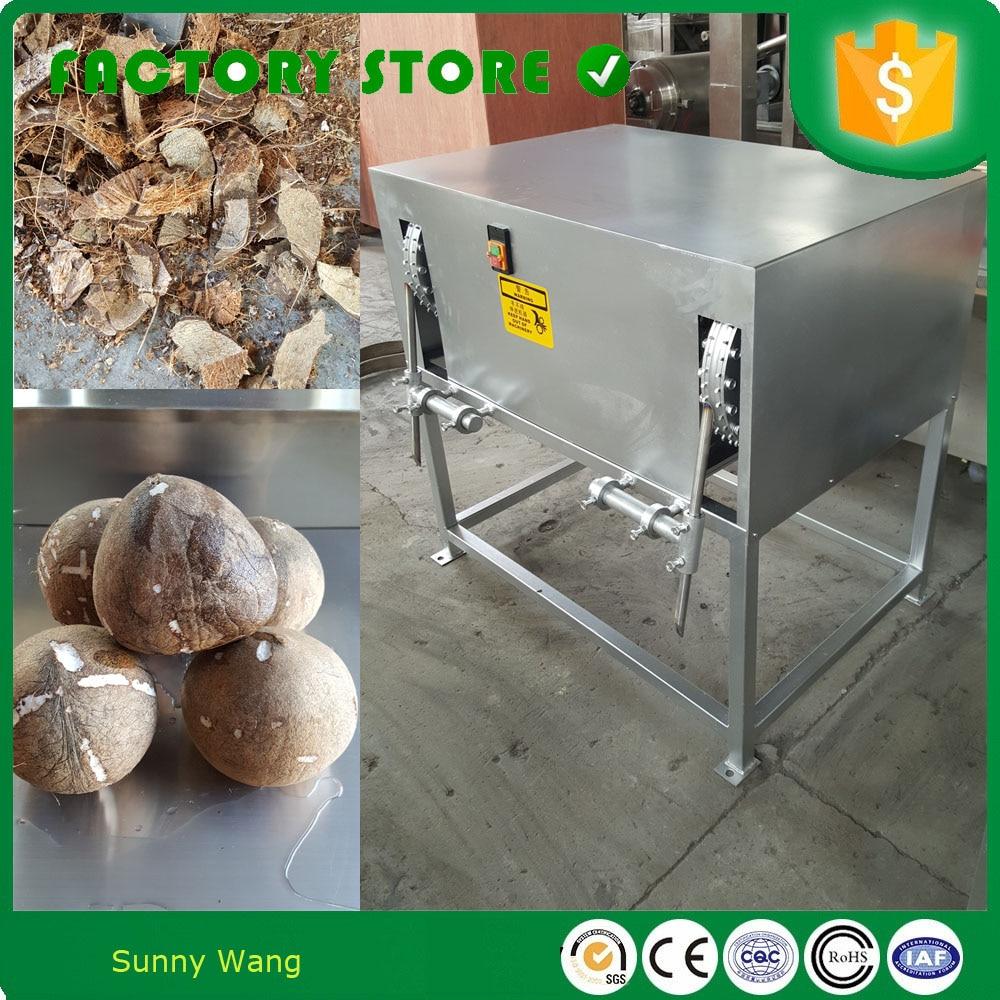 Vieille coquille de noix de coco enlevant la machine/machine de décorticage de noix de coco/machine cassée de coquille de noix de coco