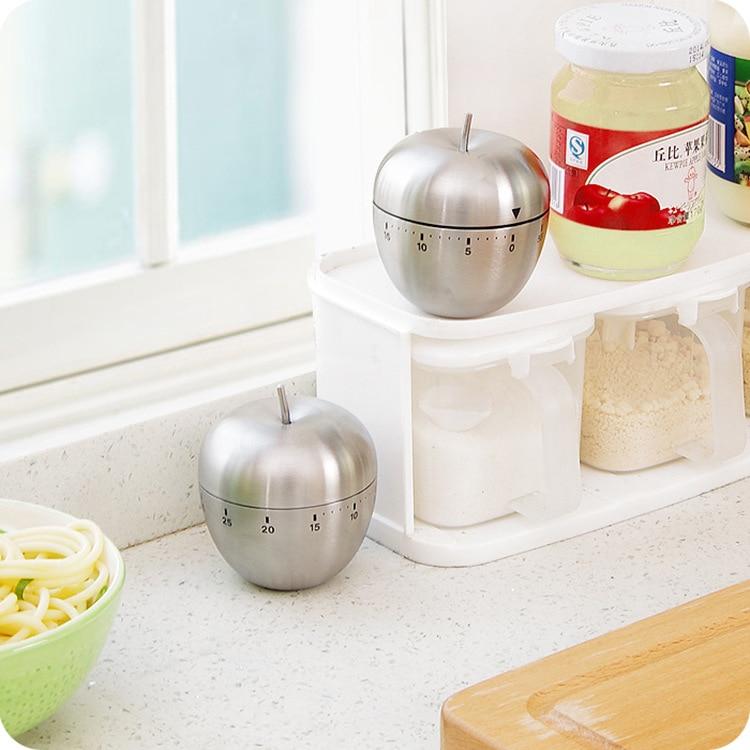 Ovo mecânico e apple cozinha temporizador temporizador cozinhar alarme 60 minutos de aço inoxidável ferramentas cozinha gadgets temporizador