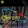 שלטי ניאון למפה של רפובליקה הדומיניקנית Coron ניאון הנורה סימן תצוגת המסעדה מנורות Handcraft זכוכית צינורות אמנות Dropshipping