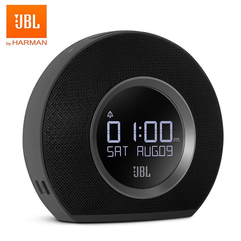 JBL الأفق بلوتوث مكبر الصوت اللاسلكي ساعة تنبيه راديو FM مع USB شحن LED المحيطة ضوء سطح المكتب مكبرات صوت ستيريو
