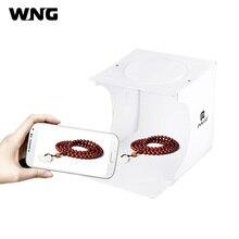 "8 ""20*20 cm Mini caja de estudio fotográfico plegable Cámara luz fotografía tienda kit con fondos de 6 colores"