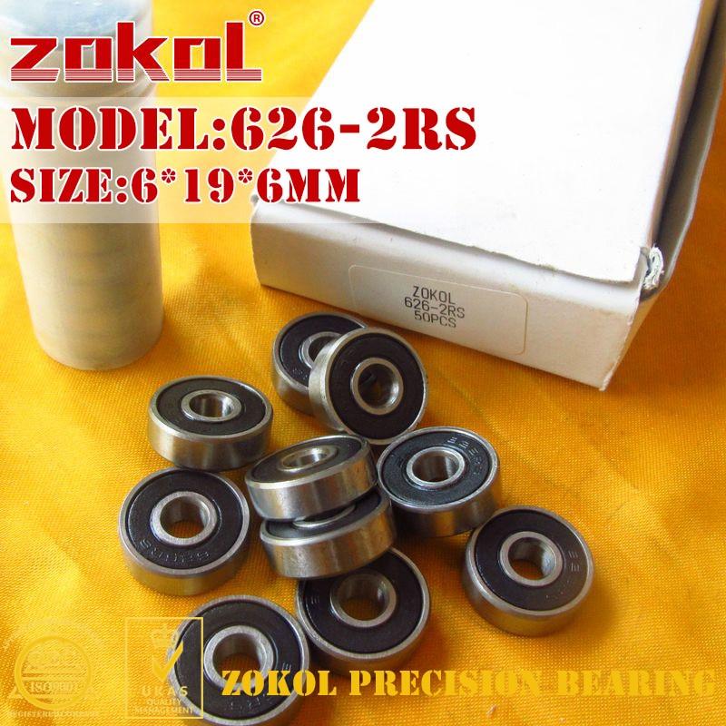 Подшипники ZOKOL 626 RS ZZ Z1 626-2RS 626ZZ P5Z4, миниатюрные Глубокие шаровые подшипники 6*19*6 мм
