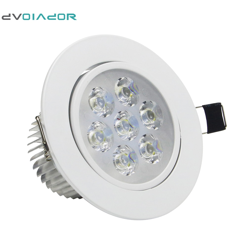 DVOLADOR Dimmbare AC85V-265V 7W/5W/4W/3W LED Downlight Warme Weiß/Weiß spot Licht Cree Decke Einbau Hause Leuchte