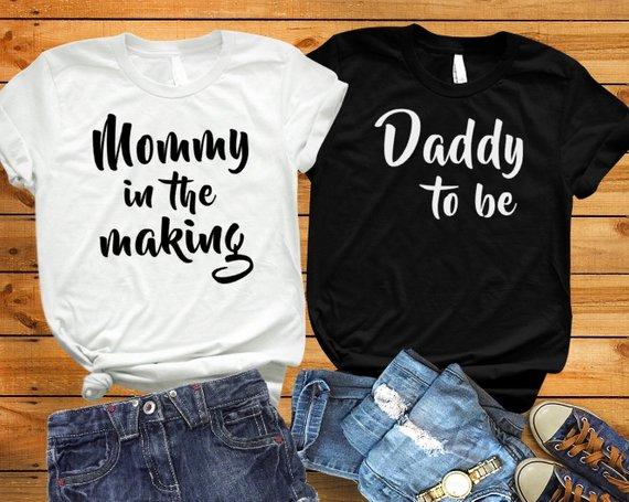Sugarbaby/футболка с надписью «Mommy In The Making» рубашка с надписью «Daddy To Be» Для малышей одинаковые футболки для родителей и пары