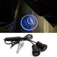 2X LED voiture porte Logo bienvenue lumière projecteur Laser ombre lampe pour Opel Insignia Astra H G J Corsa D C B Zafira B Vectra C B