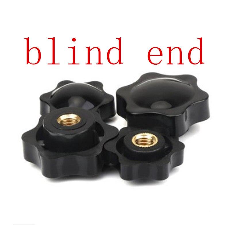 Filetage femelle m4 m5 M6 m8 m10   5 pièces, tête en forme détoile, écrous de serrage bouton dextrémité aveugle pour équipement industriel