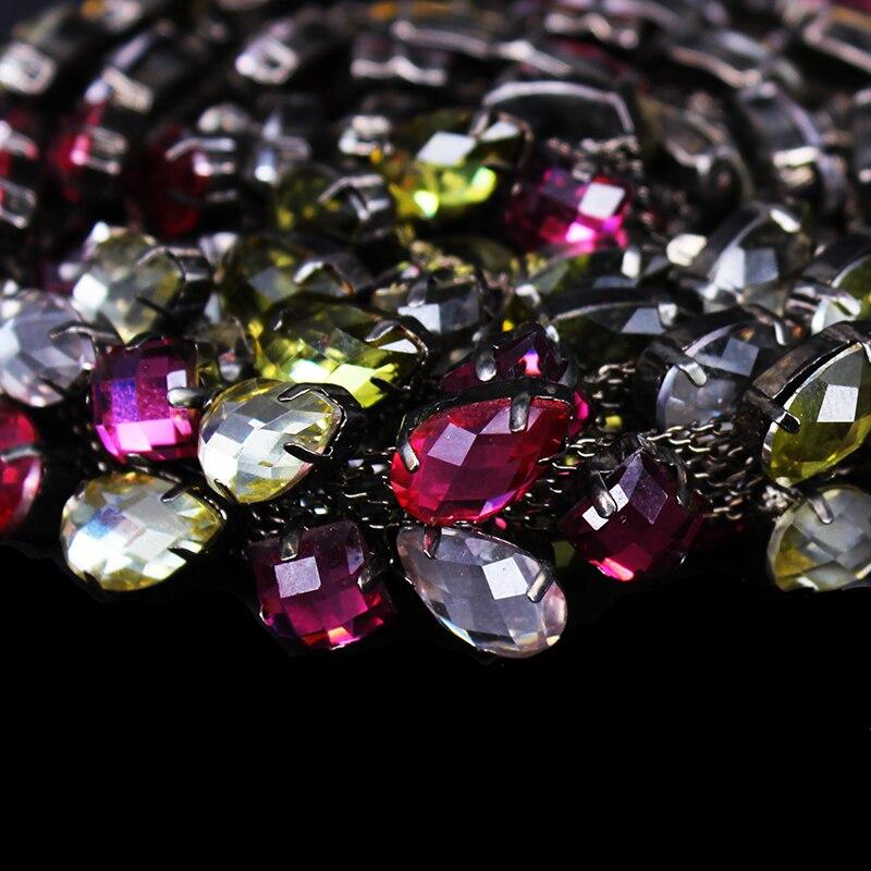 5 yarda arte de diamantes de imitación recorte bandas de cadena costura Trim de cadena de Metal, cinta de encaje de corte para la boda Dress19mm t458