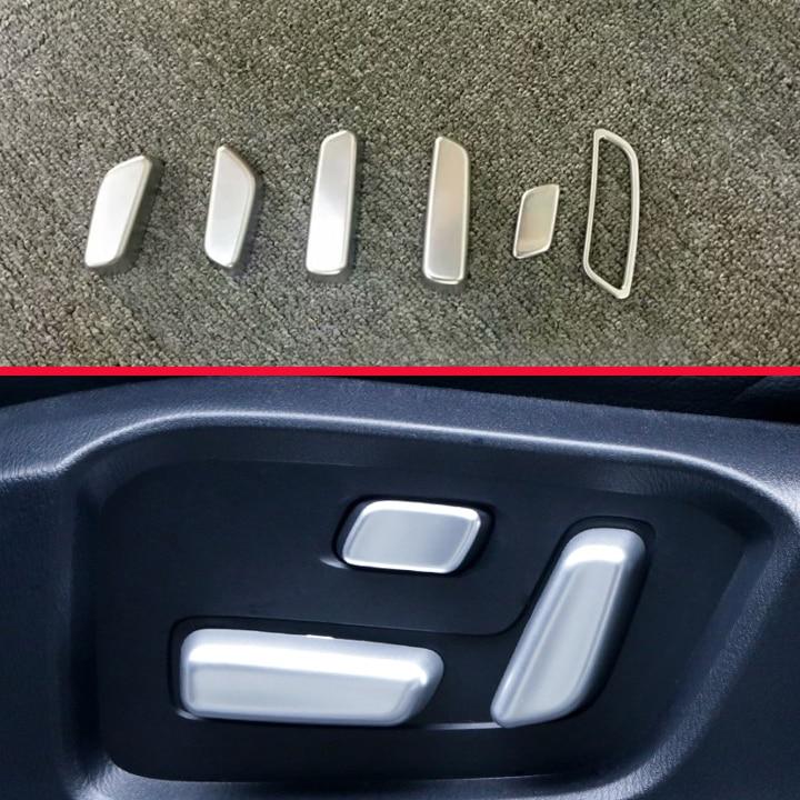 Для Mazda CX-5 CX5 2017 2018 ABS хром Внутренняя регулировка сиденья переключатель кнопка Крышка отделка