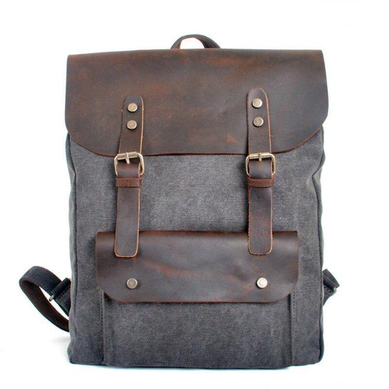 ¡Novedad de 2018! mochila M149 de lona de cuero para hombre, mochila escolar militar, mochila para mujer, mochila masculina, mochila