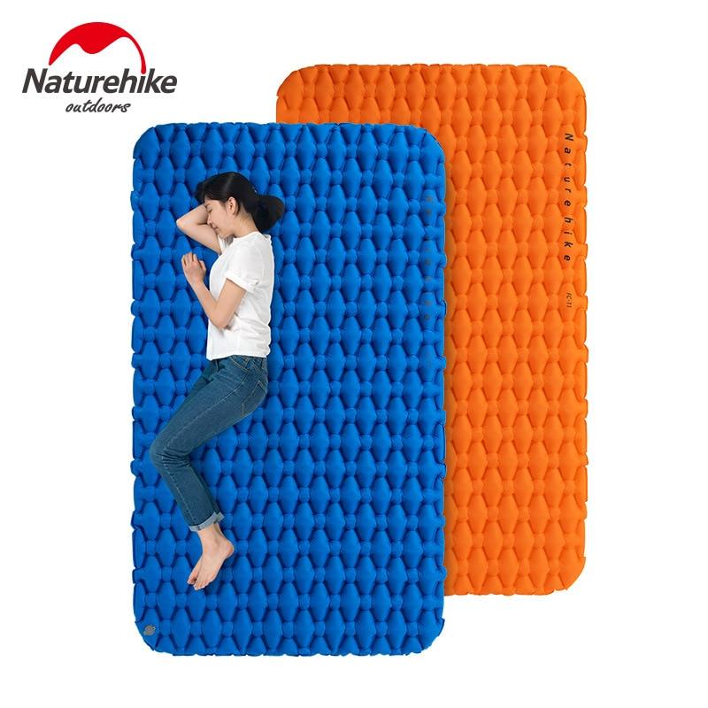 Naturehike Outdoor Camping Inflatable Cushion Moisture-proof Sleeping Bag Mattress Mat Pad With Inflatable Bag For 1-2 Persons naturehike nh outdoor waterproof bag moisture barrier bag orange black 2l
