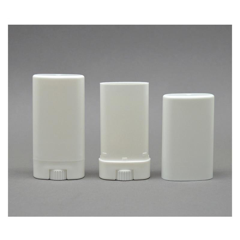 Desodorante Containers Vazio Lip Balm Tubos Ovais de plástico Portátil Branco Claro Batom Moda Lip Tubo Garrafas Reutilizáveis