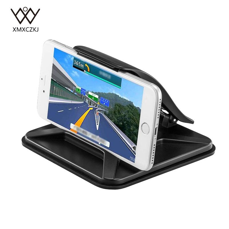 Nuevo soporte Universal adhesivo para coche, soporte de escritorio antideslizante para teléfono móvil, soporte para tableta GPS con abrazadera de resorte
