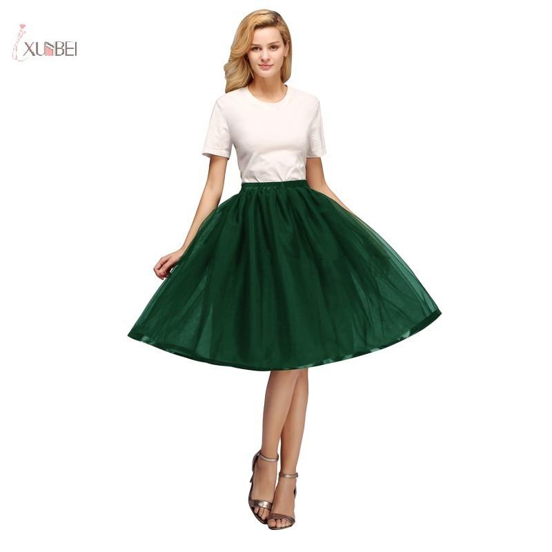 Tulle Short Petticoat Hoopless Wedding Crinoline Layers Woman Skirt Underskirt Woamn Adult Tutu Rockabilly Bridal Accessories