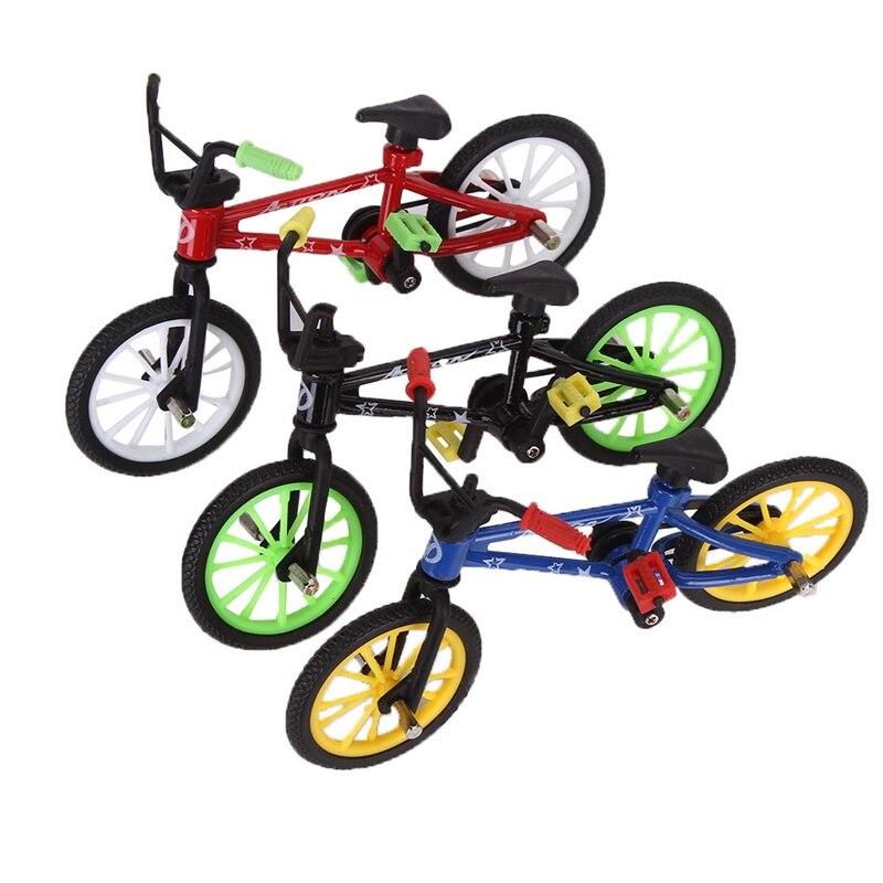 2018 ausgezeichnete Qualität Mini Finger Legierung Auto Modell Montiert Fahrrad spielzeug Puzzle Modell Set Bike Fans 1 Stücke-Random farben