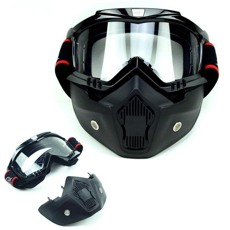 Moto moto da corsa ATV Retro occhiali casco con il professionista motocross occhiali di protezione e maschera occhiali da sci uomini donne biker