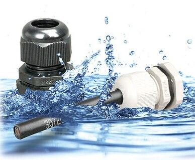 100 قطعة/الوحدة حار بيع IP68 للماء الأبيض النايلون الكابل الغدة ل 3-6.5 مللي متر كابل الغدة m12 موصل