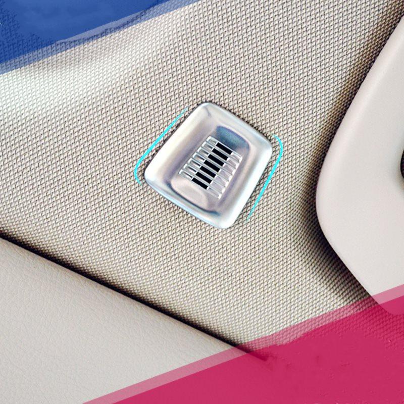 WELKINRY cubierta de coche para BMW X5 F15 2014 2015 2016 2017 2018 ABS cromado techo de coche skylight micrófono MIC altavoz trim