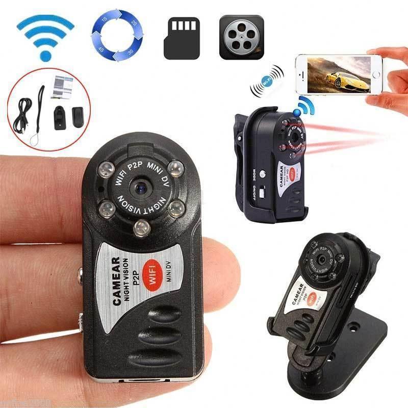 Cámara EastVita Q7 WIFI Mini 480P Wifi DV DVR inalámbrico IP Cam micro Video videocámara grabadora infrarrojos visión nocturna Cam r29