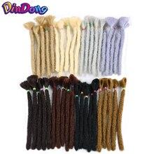 DinDong Extensions capillaires synthétiques faites à la main   Extensions de tresses au Crochet de 12 pouces, tresses blondes brunes de 6 pouces au Crochet