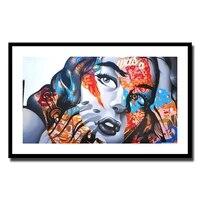 Imprimes dart mural moderne et a la mode pour fille  peinture sur toile sans cadre  decor dimages pour salon  decoration de la maison  LZ412