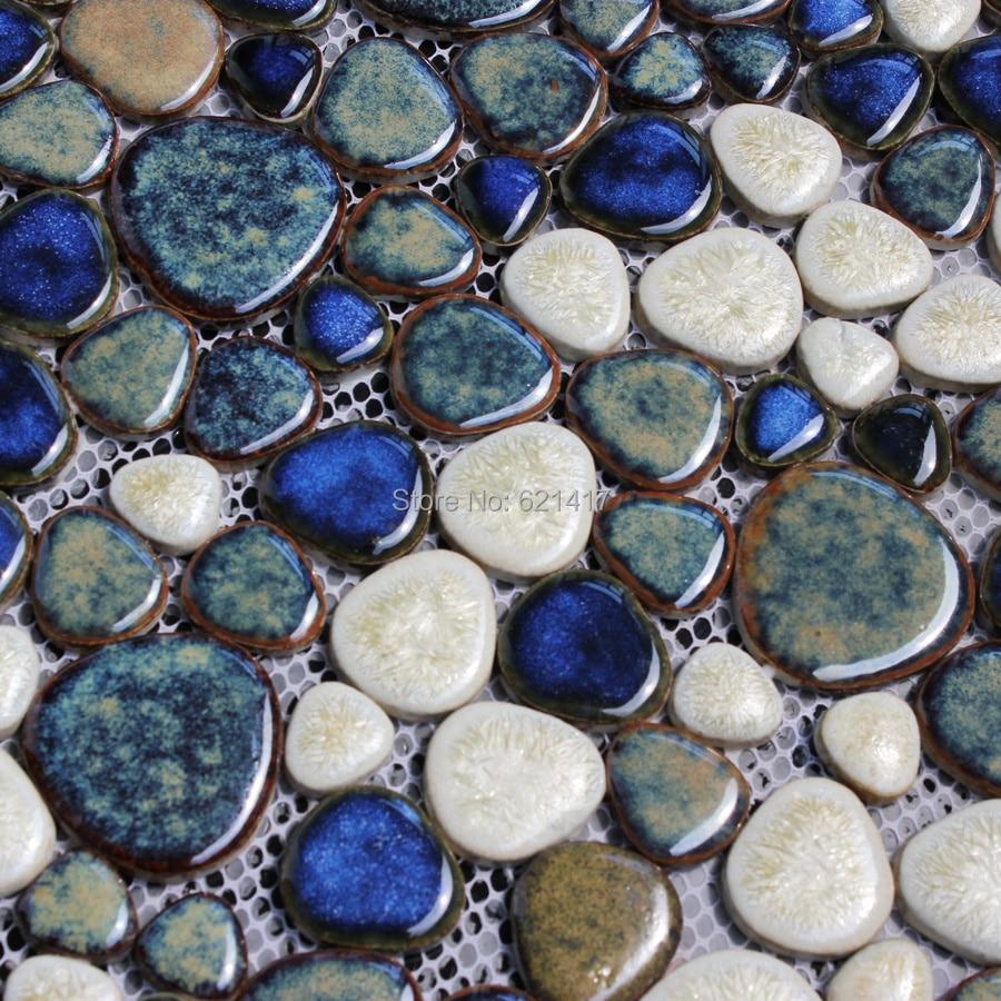 dark brown ceramic porcelain mosaic backsplash HMCM1015 pebble kitchen wall tile sticker bathroom floor tiles