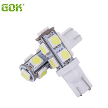 50pcs T10 led 9SMD led 5050 Car t10 194 168 192 W5W LED Light t10 smd Automobile Bulbs Lamp Wedge Interior Lamp bulb