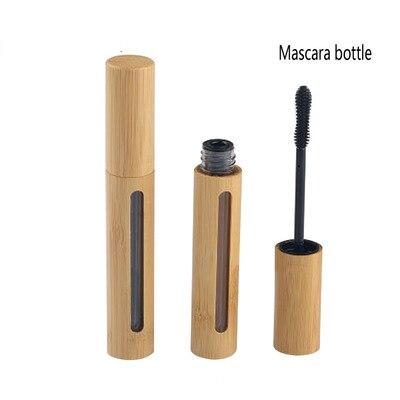 Paquete de cosméticos 50 Uds. Tubo de rímel de madera de bambú contenedor de brillo de labios 6ml pintalabios con tubo de bambú con ventana Envío Gratis