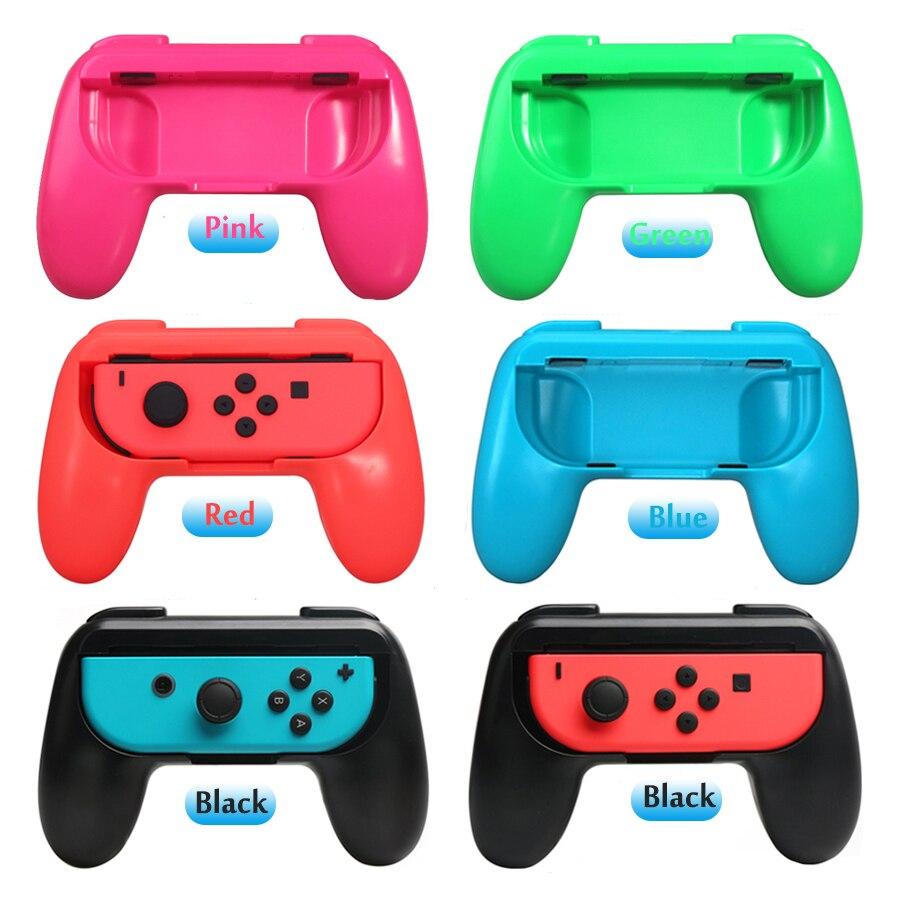 6 em 1 NintendoSwitch Pega Conforto Ergonômico Controlador Do Jogo Stand & 4 Caps para Nitendo Nintend Interruptor Acessórios Do Jogo