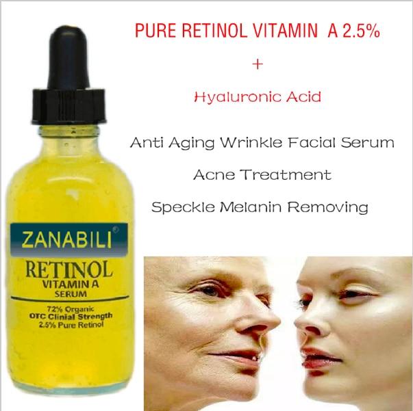 PURE RETINOL VITAMIN A 2.5% + Hyaluronic Acid Acne Scar Removal Cream Spots Facial Serum Anti Wrinkle Whitening Face Cream 3pcs