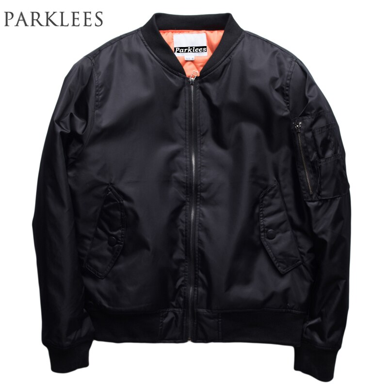 Bomber Jacket Men Brand Streetwear Hip Hop Slim Men Jacket Casual Long Sleeve Windbreak Baseball Jacket Veste Homme