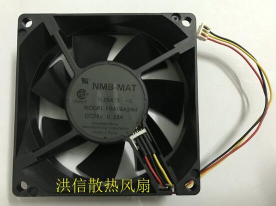 Original 8025 FBA08A24H DC24V 0.15A 8CM three-wire converter fan