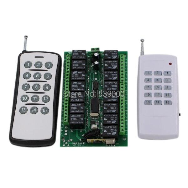 جهاز إرسال واستقبال لاسلكي ، نظام تبديل 12 فولت RF ، 15 قناة ، 315 ميجا هرتز