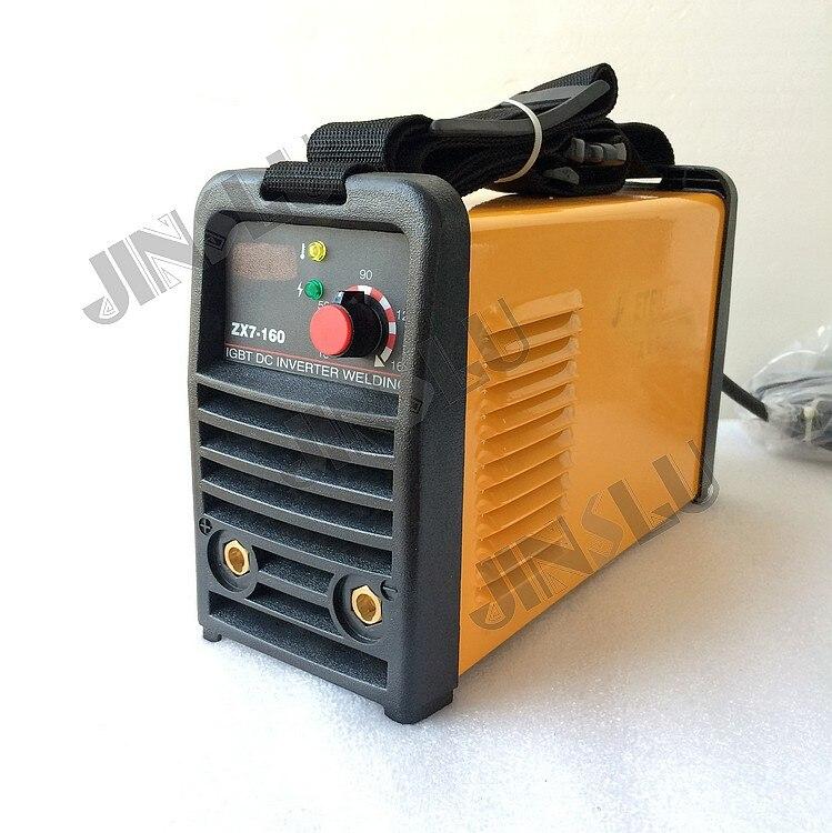 IGBT DC Inverter MMA equipo de soldadura ARC160 ARC-160 (ZX7-160) soldador con abrazadera de tierra 3M y soporte de electrodo de tierra 3M