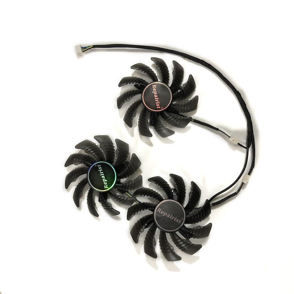 3 unids/set PLD08010S12H GTX980Ti/1080Ti GPU ventilador de vídeo refrigerador para GIGABYTE GTX980 GTX1080Ti GTX1070Ti reemplazo del refrigerador de tarjetas gráficas