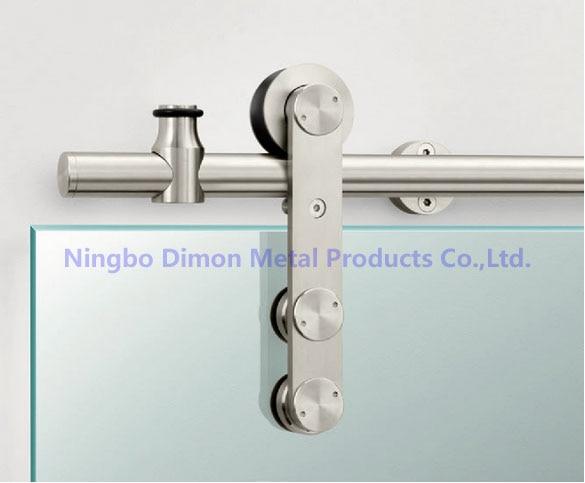 Dimon Stainless steel door hardware glass sliding hanging wheel high quality DM-SDG 7002