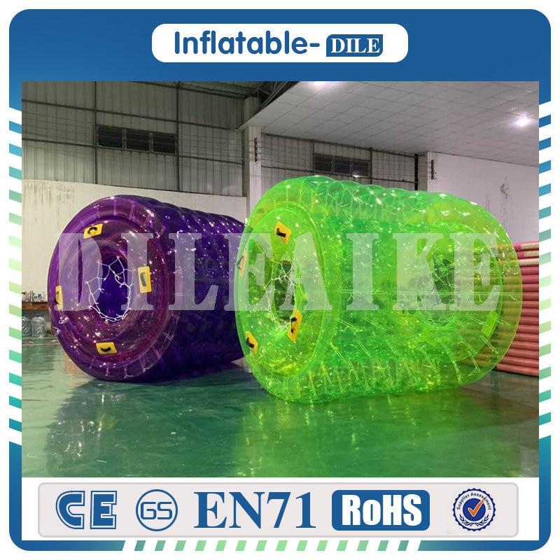 Envío Gratis 0,8mm PVC 2,4x2,1x1,7 m Bola de rodillo de agua inflable caminar sobre Bola de agua Aqua Bola de balanceo, rueda de rodillo