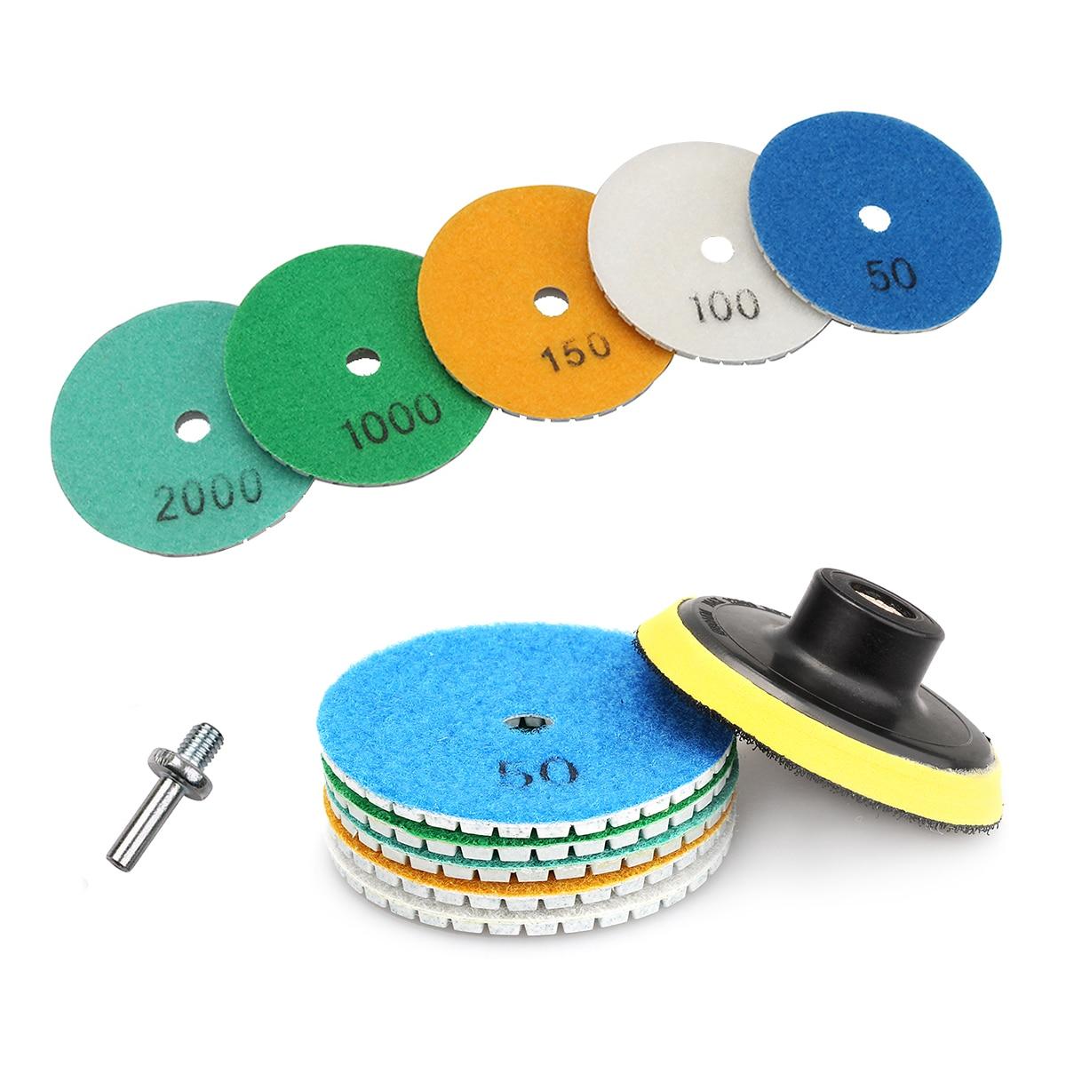 Диски с алмазным напылением, 3 дюйма, 80 мм, для влажной полировки камня, гранита, мрамора, бетона, шлифовки, инструмент, 1 шт.