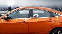 Bottom Window Frame Sill Trim 8pcs For Honda Civic 10th Gen 4dr Sedan 2016-2018