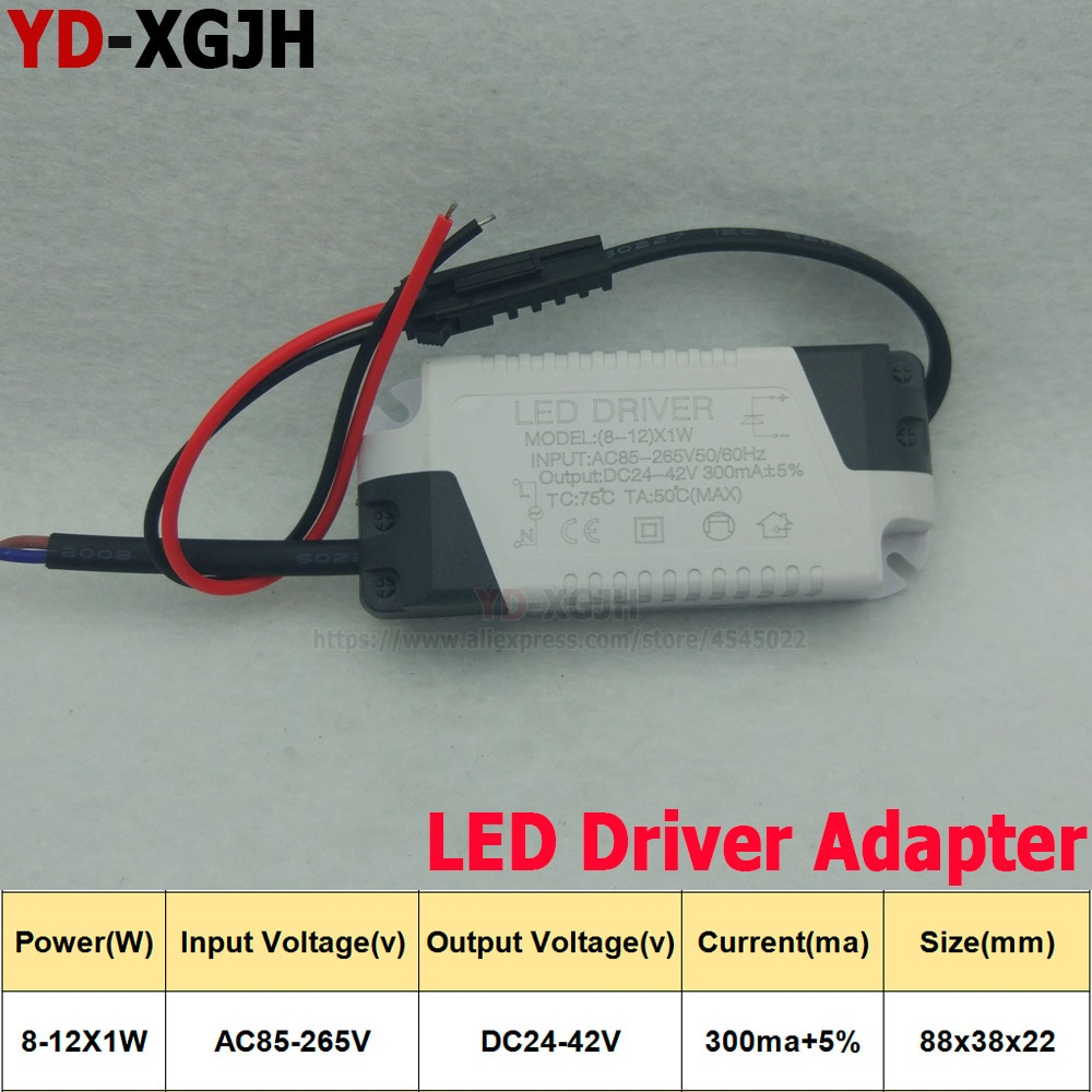10PCS/Lot LED Driver 8-12X1W  280-300mA SMD5730 LED PCB External drive  Lighting Transformer Bulb Downlight DIY Accessories