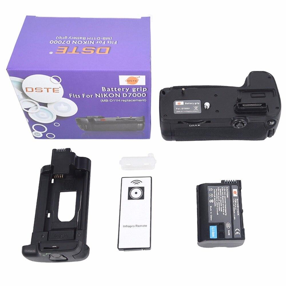 DSTE MB-D11H Multi-Power Vertical Battery Grip for Nikon D7000 Camera Battery Handgrip Holder Remote Control With EN-EL15 enel15