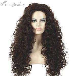 Strong Beauty Synthetic Long Curly Auburn Women Capless Wigs Heat Resistant Hair